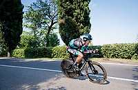 'Full gas' by Rafal Majka (POL/Bora-Hansgrohe)<br /> <br /> Stage 21 (ITT): Verona to Verona (17km)<br /> 102nd Giro d'Italia 2019<br /> <br /> ©kramon
