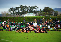 Action from the 2017 1st XV rugby Top Four boys final between Hastings Boys' High School and Hamilton Boys' High School at Sport and Rugby Institute in Palmerston North, New Zealand on Sunday, 10 September 2017. Photo: Dave Lintott / lintottphoto.co.nz