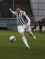 Paul Dummett in the St Mirren v St Johnstone Clydesdale Bank Scottish Premier League match played at St Mirren Park, Paisley on 8.12.12.