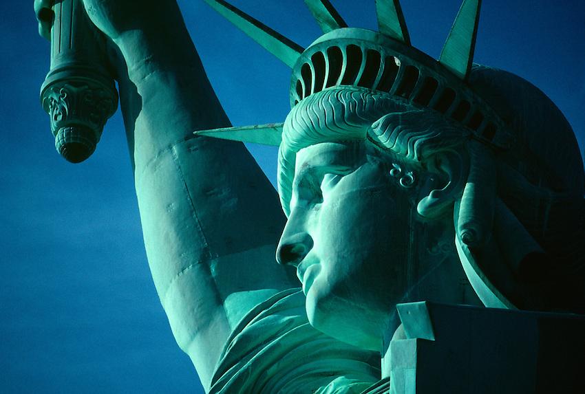 the Statue of Liberty, New York harbor, New York City