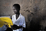 A student reads in a classroom in Malakal, Southern Sudan. NOTE: In July 2011 Southern Sudan became the independent country of South Sudan.