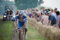 (later winner) Robin Stenuit (BEL-Wanty-Groupe Gobert) through the grass-section<br /> <br /> 90th Schaal Sels 2015