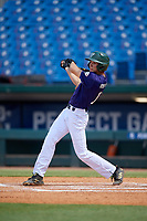 Michael Robertson (11) of Venice Senior High School in Venice, FL during the Perfect Game National Showcase at Hoover Metropolitan Stadium on June 20, 2020 in Hoover, Alabama. (Mike Janes/Four Seam Images)