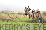 Action from the Kingdom Hunt at Abbeydorney on Sunday.