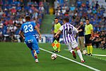 Getafe CF's Ivan Alejo and Real Valladolid's Ruben Alcaraz during La Liga match. August 31, 2018. (ALTERPHOTOS/A. Perez Meca)