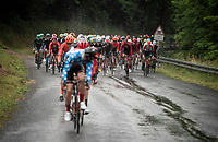 first breakaway attempt of this rain soaked stage start by polka-dot jersey wearer Casper Pedersen (DEN/Sunweb)<br /> <br /> Stage 6: Saint-Vulbas to Saint-Michel-de-Maurienne (228km)<br /> 71st Critérium du Dauphiné 2019 (2.UWT)<br /> <br /> ©kramon