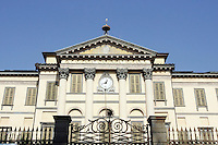 L'esterno dell'Accademia Carrara a Bergamo.<br /> Exterior of the Accademia Carrara in Bergamo.<br /> UPDATE IMAGES PRESS/Riccardo De Luca