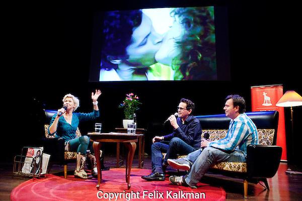 Utrecht, 27 september 2012.Nederlands Film Festival 2012, NFF.NFF Lab: De Favoriete Video Clip Avond van 3 voor 12.Isolde Hallesleben, Willem van Zeeland en Stephan van Peursen..Foto Felix Kalkman