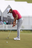 Tommy Fleetwood (ENG) birdie putt on the 8th green during Saturday's Round 3 of the 117th U.S. Open Championship 2017 held at Erin Hills, Erin, Wisconsin, USA. 17th June 2017.<br /> Picture: Eoin Clarke | Golffile<br /> <br /> <br /> All photos usage must carry mandatory copyright credit (&copy; Golffile | Eoin Clarke)