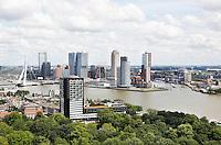 Nederland Rotterdam 2016 . Rotterdam gezien vanaf de Euromast. De Kop van Zuid.  Foto Berlinda van Dam / Hollandse Hoogte