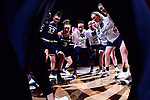 COLUMBUS, OH - MARCH 30: Notre Dame players huddle before the start of their game against Connecticut in a semifinal game of the 2018 NCAA Division I Women's Basketball Final Four at Nationwide Arena in Columbus, Ohio. (Photo by Ben Solomon/NCAA Photos via Getty Images)
