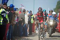 Taylor Phinney (USA/BMC) on the Carrefour de l'Arbre<br /> <br /> Paris-Roubaix 2014