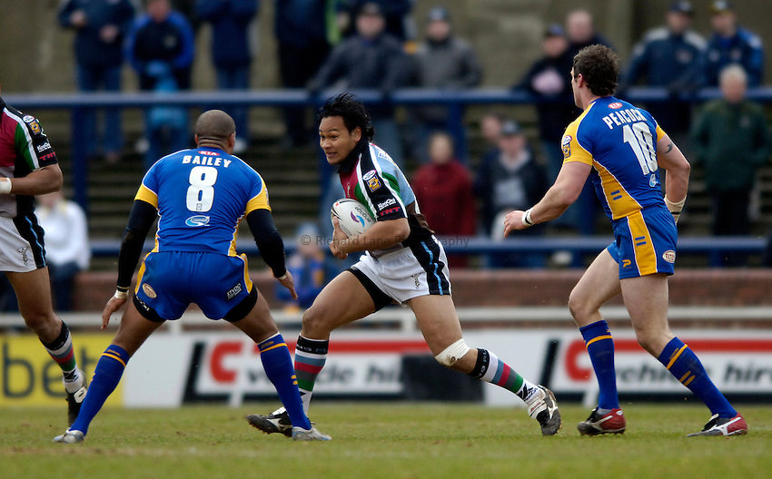 Photo: Jed Wee..Leeds Rhinos v Harlequins Rugby League. Pre Season Friendly. 29/01/2006. ..Filimore Lololiea.