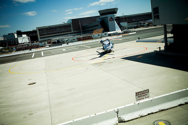 Started in March of 2006, US Helicopter is now running several daily taxi services to JFK airport for $160 each way. Overseen by both the Port Authority and TSA due to concerns over security procedures, US Helicopter has seen its business steadily grow since its induction.. The landing pad at JFK.