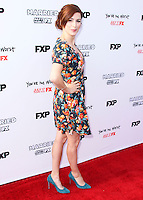 HOLLYWOOD, LOS ANGELES, CA, USA - JULY 14: Aya Cash arrives at the Los Angeles Premiere Of FX's 'You're The Worst' And 'Married' held at Paramount Studios on July 14, 2014 in Hollywood, Los Angeles, California, United States. (Photo by Xavier Collin/Celebrity Monitor)