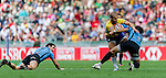 Uruguay vs Brazil during their HSBC Sevens Wold Series Qualifier match as part of the Cathay Pacific / HSBC Hong Kong Sevens at the Hong Kong Stadium on 27 March 2015 in Hong Kong, China. Photo by Juan Manuel Serrano / Power Sport Images