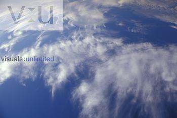 Fibratus Cirrus Clouds consist of high altitude ice crystals.