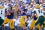 BROOKINGS, SD - SEPTEMBER 28:  Austin Sumner #6 from South Dakota State University looks for a receiver in the pocket against North Dakota State University in the first quarter of their game Saturday afternoon at Coughlin Alumni Stadium in Brookings. (Photo by Dave Eggen/Inertia)