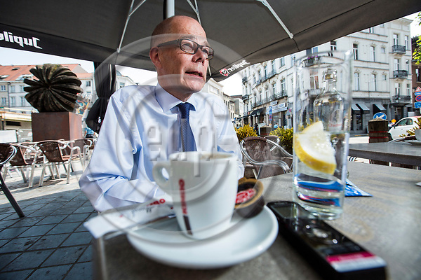 BRUSSELS - BELGIUM - 22 June 2017 -- Kare Halonen, State Secretary for EU affairs the Prime Minister's Office Head of EU Affairs Department during an interview on a cafe terrace on Place Jourdan. -- PHOTO: Juha ROININEN / EUP-IMAGES