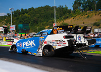 Jun 15, 2018; Bristol, TN, USA; NHRA funny car driver John Force during qualifying for the Thunder Valley Nationals at Bristol Dragway. Mandatory Credit: Mark J. Rebilas-USA TODAY Sports