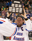 Michael Kapla (UML - 3) The University of Massachusetts-Lowell River Hawks defeated the Boston College Eagles 4-3 to win the 2017 Hockey East tournament at TD Garden on Saturday, March 18, 2017, in Boston, Massachusetts.