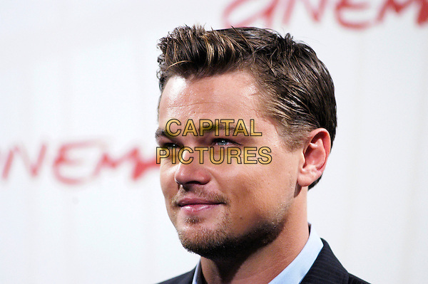 "LEONARDO DiCAPRIO.Poses at a photocall for his new movie ""The Departed"".on the third day of the Rome Film Festival, Rome, Italy,.October 15th 2006..portrait headshot leo di caprio .Ref: CAV.www.capitalpictures.com.sales@capitalpictures.com.©Luca Cavallari/Capital Pictures."