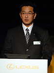 Takayuki Katsuta, Toyota's chief engineer for Lexus series, speaks during a press conference at Lexus RX Museum in Tokyo. The company unveiled new Lexus SUV RX350 and RX450h for the Japanese market. 19 January, 2009. (Taro Fujimoto/JapanToday/Nippon News)