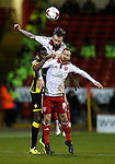 John Brayford of Sheffield Utd wins against Lucas Akins of Burton Albion - English League One - Sheffield Utd vs Burton Albion - Bramall Lane Stadium - Sheffield - England - 1st March 2016 - Pic Simon Bellis/Sportimage