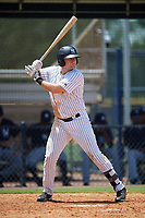 GCL Yankees West third baseman Mitchell Robinson (34) at bat during a game against the GCL Yankees East on August 8, 2018 at Yankee Complex in Tampa, Florida.  GCL Yankees West defeated GCL Yankees East 8-4.  (Mike Janes/Four Seam Images)