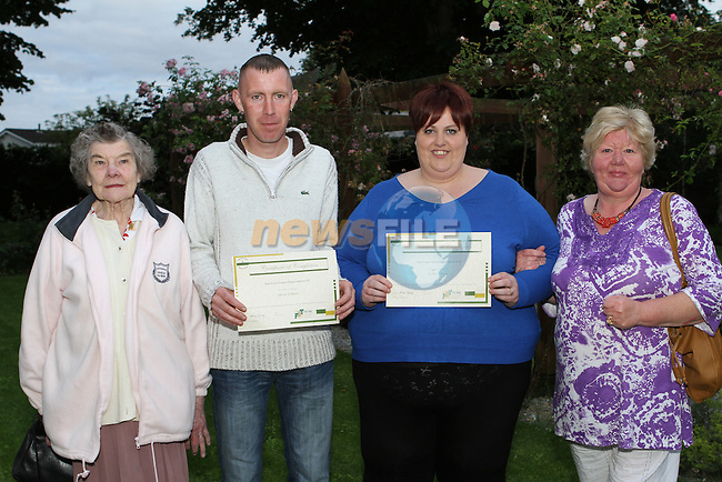 Jerome and Claire O'Brien with Mary Mooney and Mary McGuinness at the Certificate Award Ceremony for the Ecco training Course in Duleek...(Photo credit should read Jenny Matthews/NEWSFILE)...