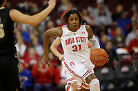 Ohio State Buckeyes guard Raven Ferguson (31) heads to the basket during a women's basketball game between the Ohio State Buckeyes and the Purdue Boilermakers at Value City Arena on January 2, 2014. ( Dispatch photo by Fred Squillante)