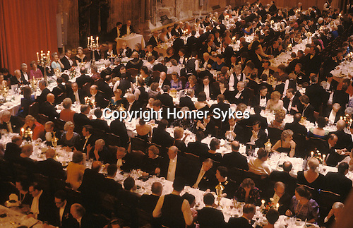 Lord Mayor of London banquet in the Guild Hall England UK
