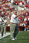 Madison, Wisconsin - 9/6/2003.  University of Wisconsin offensive line coach Jim Hueber during the Akron game at Camp Randall. Wisconsin beat Akron 48-31. (Photo by David Stluka).