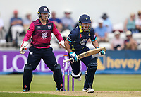 Northants Steelbacks' Adam Rossington looks on as Durham's Will Smith takes a run <br /> <br /> Photographer Andrew Kearns/CameraSport<br /> <br /> Royal London One Day Cup - Northamptonshire v Durham - Sunday 27th May 2018 - The County Ground, Northampton<br /> <br /> World Copyright &copy; 2018 CameraSport. All rights reserved. 43 Linden Ave. Countesthorpe. Leicester. England. LE8 5PG - Tel: +44 (0) 116 277 4147 - admin@camerasport.com - www.camerasport.com