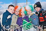 Country colours: Paul Moroney, Mark O'Riordan, Gaby and David Moroney and.Liam Conway, all from Glin, who were getting into the St Patrick's Day form.at the Abbeyfeale St Patrick's Day parade on Monday.   Copyright Kerry's Eye 2008
