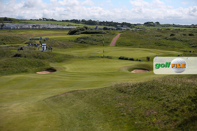 View of the 15th and 11th greens during Round One of the Match Play at The Amateur Championship 2014 from Royal Portrush Golf Club, Portrush, Northern Ireland. Picture:  David Lloyd / www.golffile.ie