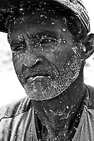 Gold seeker portrait at Agua Branca gold mining village, Amazon rain forest, Para State, Brazil.