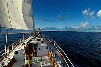 Sailing the Rock islands, palau Micronesia