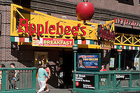 An Applebee's restaurant is pictured in New York, NY, Tuesday August 2, 2011. Applebee's International, Inc. is an American company which develops, franchises, and operates the Applebee's Neighborhood Grill and Bar restaurant chain.