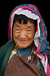 Bhutanese woman in traditional clothing