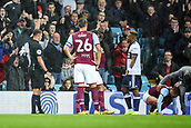 12th September 2017, Villa Park, Birmingham, England; EFL Championship football, Aston Villa versus Middlesbrough; The referee shows a red card to Adama Traoré of Middlesbrough