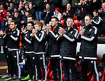 Nigel Adkins manager of Sheffield Utd take part in the minutes applause - English League One - Sheffield Utd vs Coventry City - Bramall Lane Stadium - Sheffield - England - 13th December 2015 - Pic Simon Bellis/Sportimage-