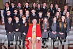 The 6th class students of Gaelscoil Naomh Aogain who were Confirmed at St Stephen and St John, Castleisland  on Tuesday March 18th. By Bishop Ray Browne. Pictured Front Row:Michael Ó Conaill, Andriú Ó Muineacháin, Cathal Shire, Marly Ní Chathail, Nell Ní Nuallain, Danielle Ní Néill.<br /> <br /> Second row: Seosamh Mac a tSithigh, Dean Ó Lioncháin, Andrea Ní Chonchúir, Janine Ní Shuilleabháin, Darragh De Burca,D.J Ó Conaill, Lucy Setterfield, Anna Ní Scanláin, Grace Ní Churtáin.<br /> <br /> 3rd Row Tomás Ó Conchúir Priomh Oide, Donál Ó Géiní, Moira Ní Laoire, Seán Breathnach, Fia Lawless, Kerrie Ní Shuilleabháin, Seán Ó hEaliathe, Tara Ní Mhurchú, Cait Nic Charthaigh, Meg Ní Chrónín, Padgáigín uí Chonaill Múinteor Rang a Sé.