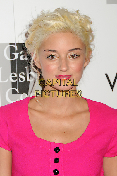 "Caroline D'Amore.LA Gay & Lesbian Center's ""An Evening With Women"" 2013 held at the Beverly Hilton Hotel, Beverly Hills, California, USA, 18th May 2013..portrait headshot bleached blonde hair pink .CAP/ADM/BP.©Byron Purvis/AdMedia/Capital Pictures"