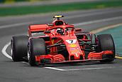 24th March 2018, Melbourne Grand Prix Circuit, Melbourne, Australia; Melbourne Formula One Grand Prix, qualifying; Kimi Raikkonen of Finland driving the (7) Ferrari SF71H
