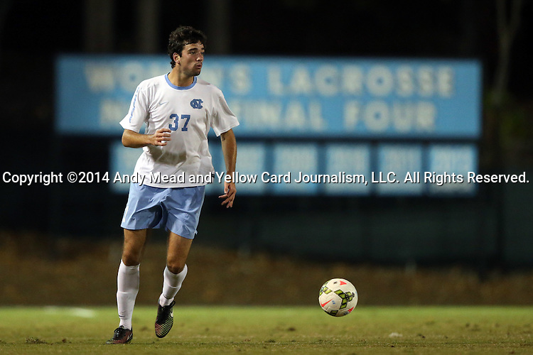 28 October 2014: North Carolina's Walker Hume. The University of North Carolina Tar Heels hosted the Georgia Southern University Eagles at Fetzer Field in Chapel Hill, NC in a 2014 NCAA Division I Men's Soccer match. North Carolina won the game 6-2.