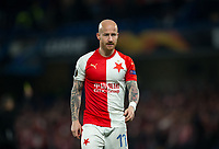 Miroslav Stoch of Slavia Prague during the UEFA Europa League match between Chelsea and Slavia Prague at Stamford Bridge, London, England on 18 April 2019. Photo by Andy Rowland / PRiME Media Images.<br /> .<br /> .<br /> Editorial use only, license required for commercial use. No use in betting,<br /> games or a single club/league/player publications.'