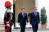 Giuseppe Conte and Fayez al-Sarraj<br /> Rome May 7th 2019. The Italian Prime Minister meets the Premier of the Government of National Accord of Libya.<br /> Photo di Samantha Zucchi/Insidefoto