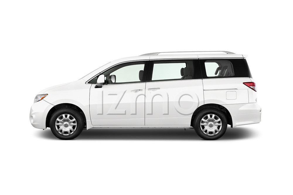Car Driver side profile view of a 2017 Nissan Quest S 5 Door Minivan Side View
