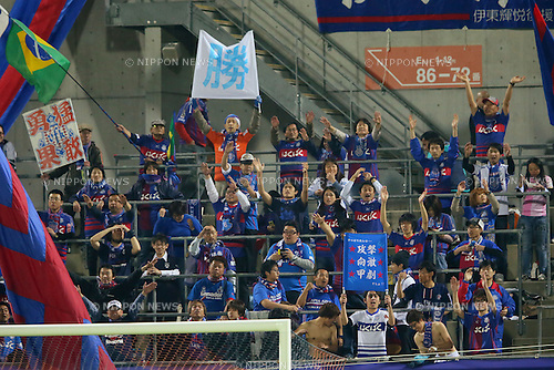 Ventforet Kofu fans (Ventforet), .APRIL 10, 2013 - Football /Soccer : .2013 J.LEAGUE Yamazaki Nabisco Cup .between Omiya Ardija 1-3 Ventforet Kofu .at NACK5 Stadium Omiya, Saitama, Japan. .(Photo by YUTAKA/AFLO SPORT)